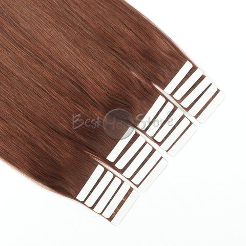Dark Auburn #33 Tape In Hair Extensions