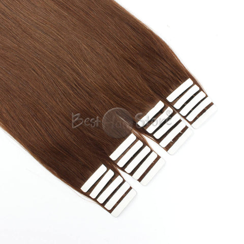 Chocolate Brown #4 Tape In Hair Extensions