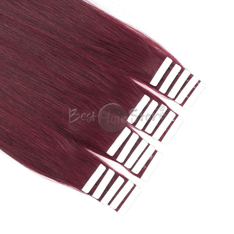 Dark Burgundy #530 Tape In Hair Extensions