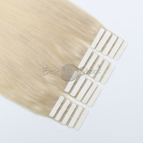 Ash Blonde #60 Tape In Hair Extensions