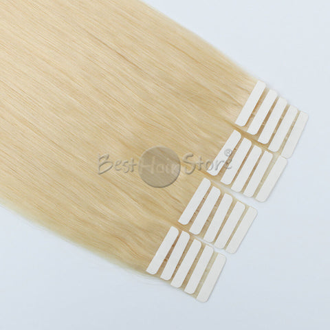 Platinum Blonde #613 Tape In Hair Extensions