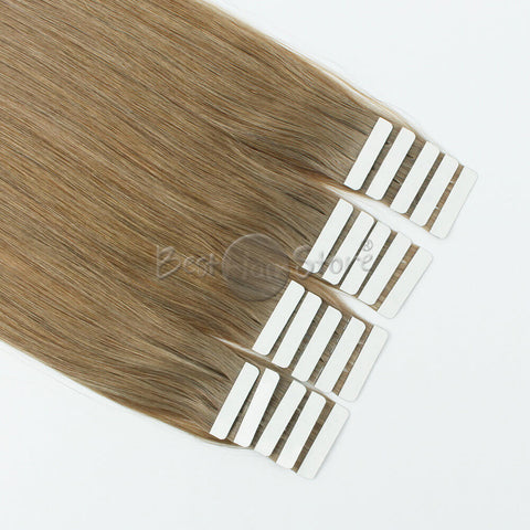 Ash Brown #8 Tape In Hair Extensions