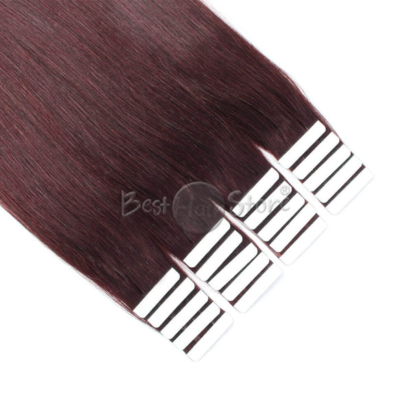 Dark Wine #99J Tape In Hair Extensions