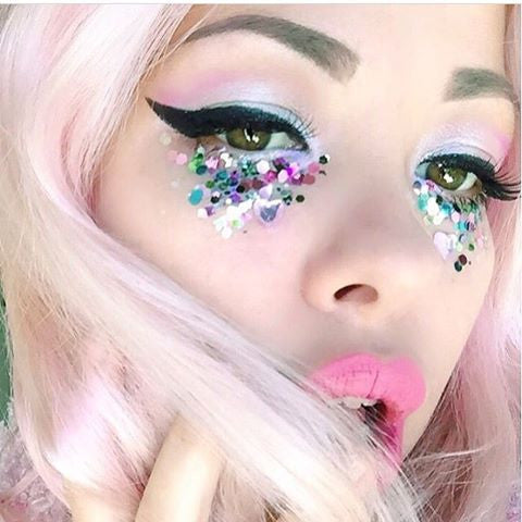 unicorn make up glitter tears