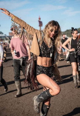 fringed jacket coachella