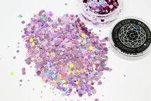 Pink holographic chunky face cosmetic glitter