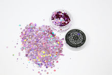 Candy Pink Holographic Chunky Face Glitter