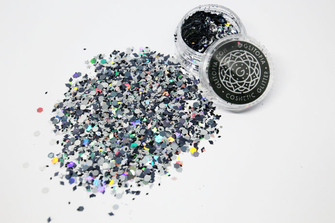 Abracadabra! Silver and Black Cosmetic Glitter