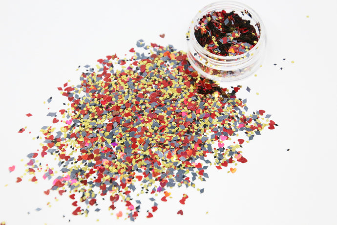 Limited Edition - Queen of Hearts Cosmetic Face Glitter