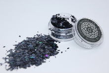 Ebony Black Glitter - Chunky cosmetic festival sequins