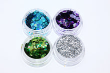 Ice Cool Glitter Set - 4 Chunky Cosmetic Glitters with Glitter Glue