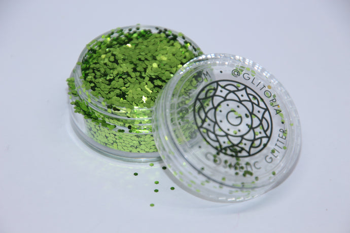 Green Fine Cosmetic Glitter Make up