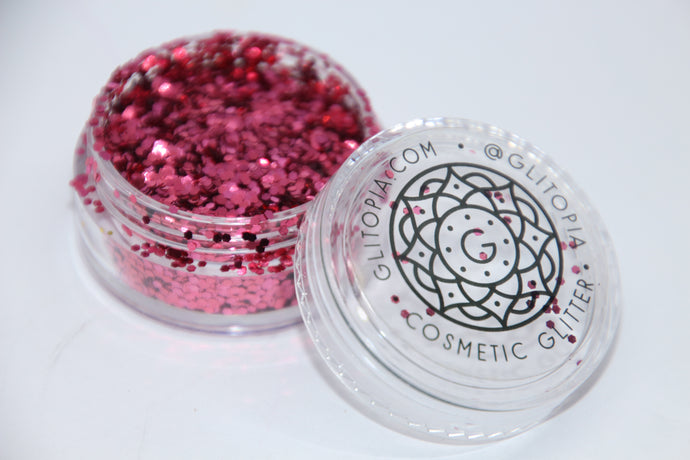 Hot Pink Fine Cosmetic Face Glitter