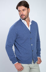 Cardigan in puro cashmere con bottoni