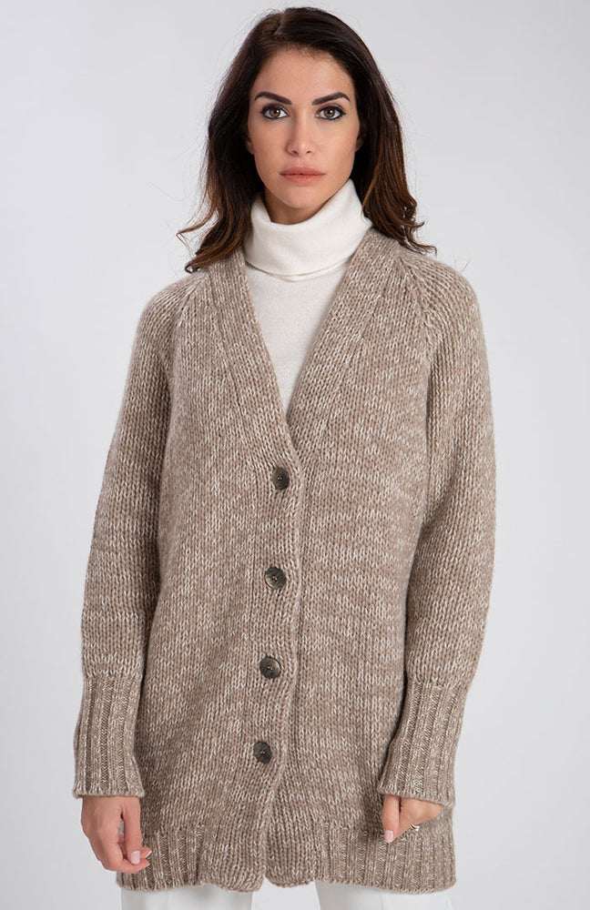 Cardigan in eco cashmere 5 fili
