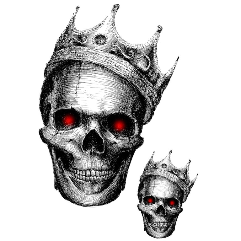 Tatouage éphémère : King Skull - Pack - ArtWear Tattoo France - Tatouage temporaire