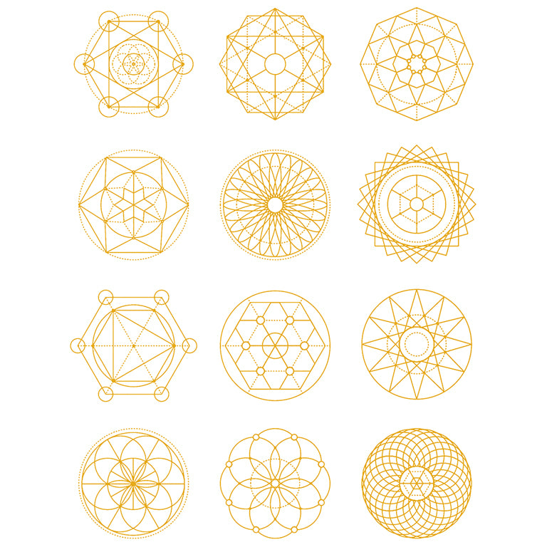 Golden Sacred Geometry - Pack - ArtWear Tattoo