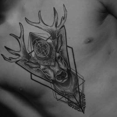 Sacred Deer - by Gent - ArtWear Tattoo