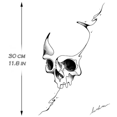 Skull Line - by Bichon - ArtWear Tattoo