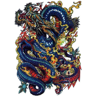Blue Dragon - ArtWear Tattoo