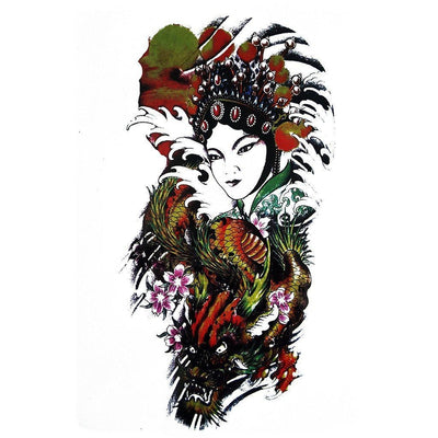 Tatouage éphémère : Chinese Princess & Dragon - ArtWear Tattoo France - Tatouage temporaire