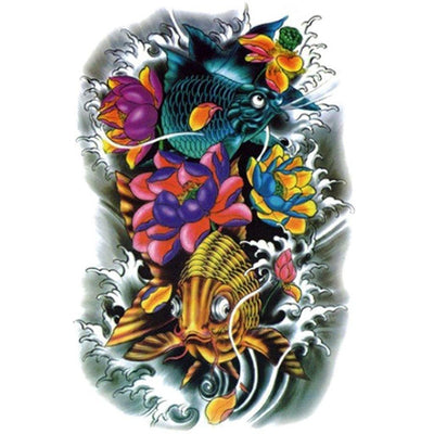 Tatouage éphémère : Colorful Fish - ArtWear Tattoo France - Tatouage temporaire