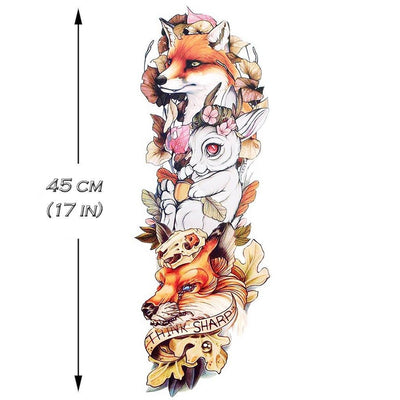 "Fox ""Think Sharp"" Sleeve - ArtWear Tattoo"