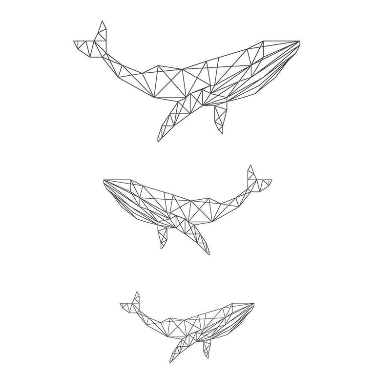 Animaux - Geometric Whales - Pack