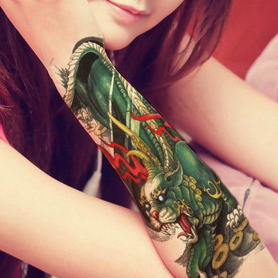 Tatouage éphémère : Green Dragon - ArtWear Tattoo France - Tatouage temporaire