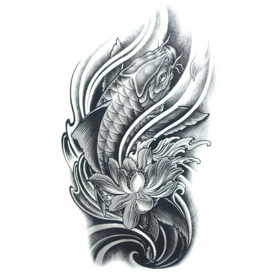 Tatouage éphémère : Koi Fish 2 - ArtWear Tattoo France - Tatouage temporaire