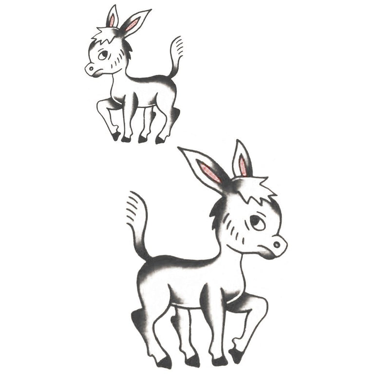 Animaux - Old School Baby Donkey - Pack