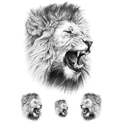Realistic Roar of the Lion - Pack - ArtWear Tattoo