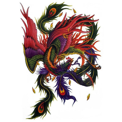 The Colorful Phoenix - ArtWear Tattoo