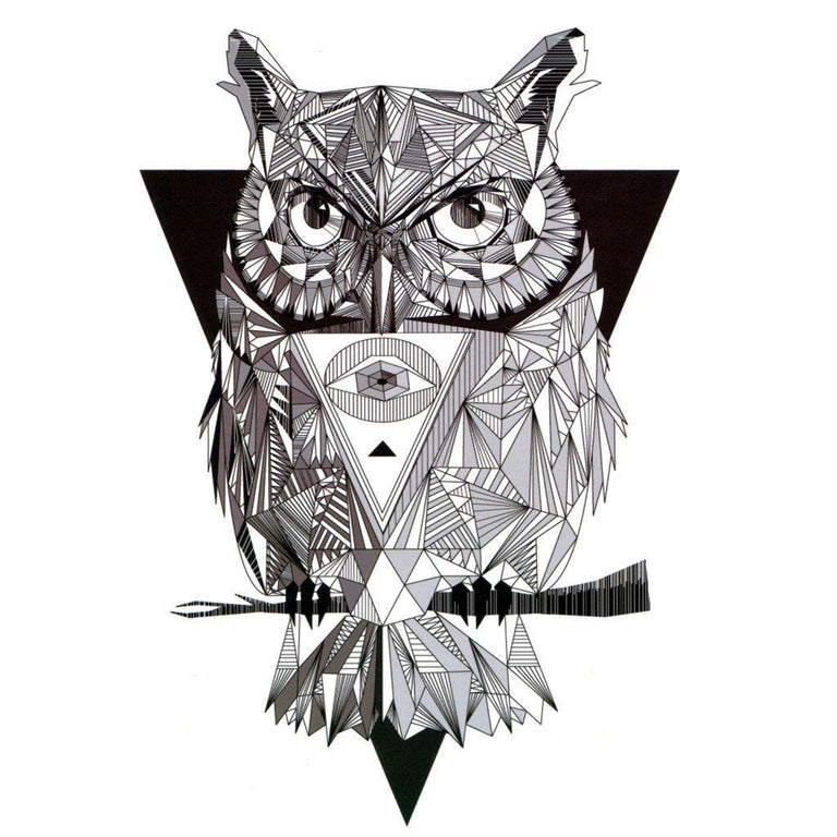 The Cubic Owl - ArtWear Tattoo