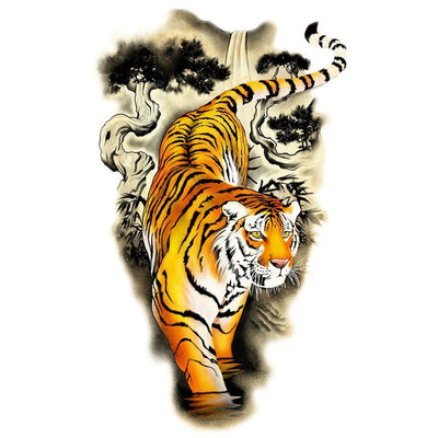 Animaux - Tiger - White Touch