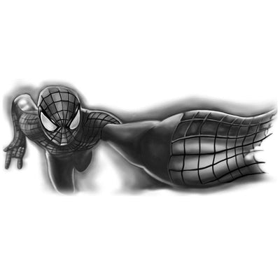 Tatouage éphémère : Black Spiderman 3D - ArtWear Tattoo France - Tatouage temporaire