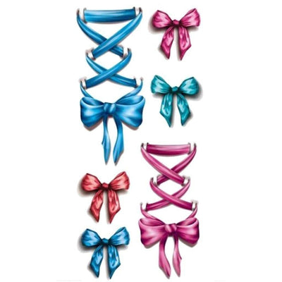 Tatouage éphémère : Big Bows & Ribbons - ArtWear Tattoo - Tatouage temporaire