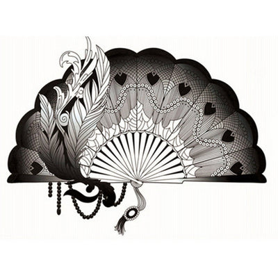 Tatouage éphémère : Black Fan - ArtWear Tattoo France - Tatouage temporaire