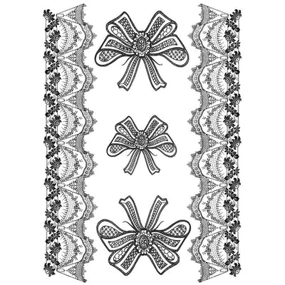 Tatouage éphémère : Lace and Bows Pack - ArtWear Tattoo France - Tatouage temporaire