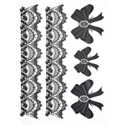 Tatouage éphémère : Laces & Bows - Pack - ArtWear Tattoo France - Tatouage temporaire