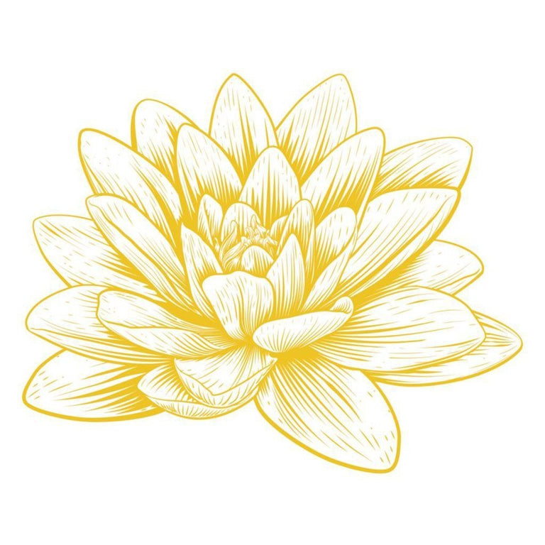 Tatouage éphémère : Large Golden Lotus - ArtWear Tattoo - Tatouage temporaire