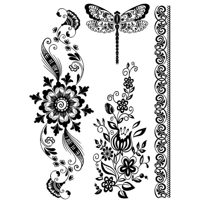Magnificent Flowers & Butterfly - Pack - ArtWear Tattoo