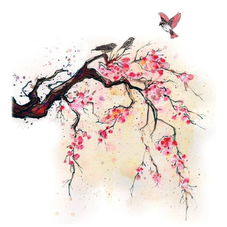 Sakura Tree & Birds - ArtWear Tattoo