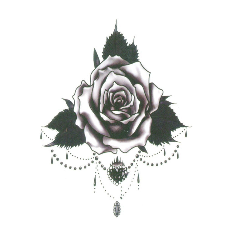 Small Black Rose - ArtWear Tattoo