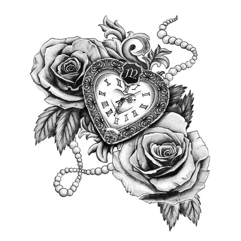 Time vs. Roses - ArtWear Tattoo