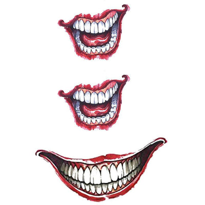 Tatouage éphémère : Glow in the Dark Joker Smile - Pack - ArtWear Tattoo - Tatouage temporaire