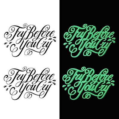 "Tatouage éphémère : Glow in the Dark ""Try Before"" - Pack - ArtWear Tattoo - Tatouage temporaire"