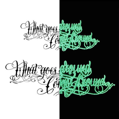 "Tatouage éphémère : Glow in the Dark ""What Goes Around"" - Pack - ArtWear Tattoo - Tatouage temporaire"