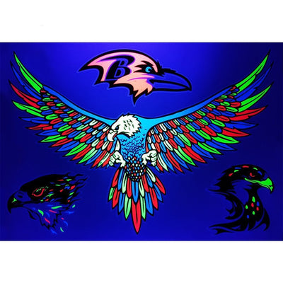 Tatouage éphémère : Ultraviolet Eagles Pack - ArtWear Tattoo - Tatouage temporaire