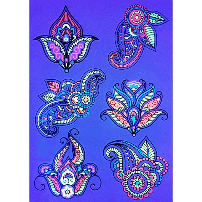 Ultraviolet Mandala Flowers Pack - ArtWear Tattoo